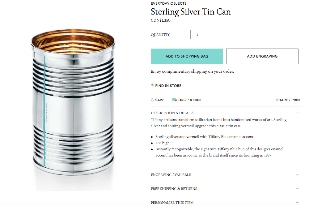 Who Wants to Buy a $1,350 Tin Can?