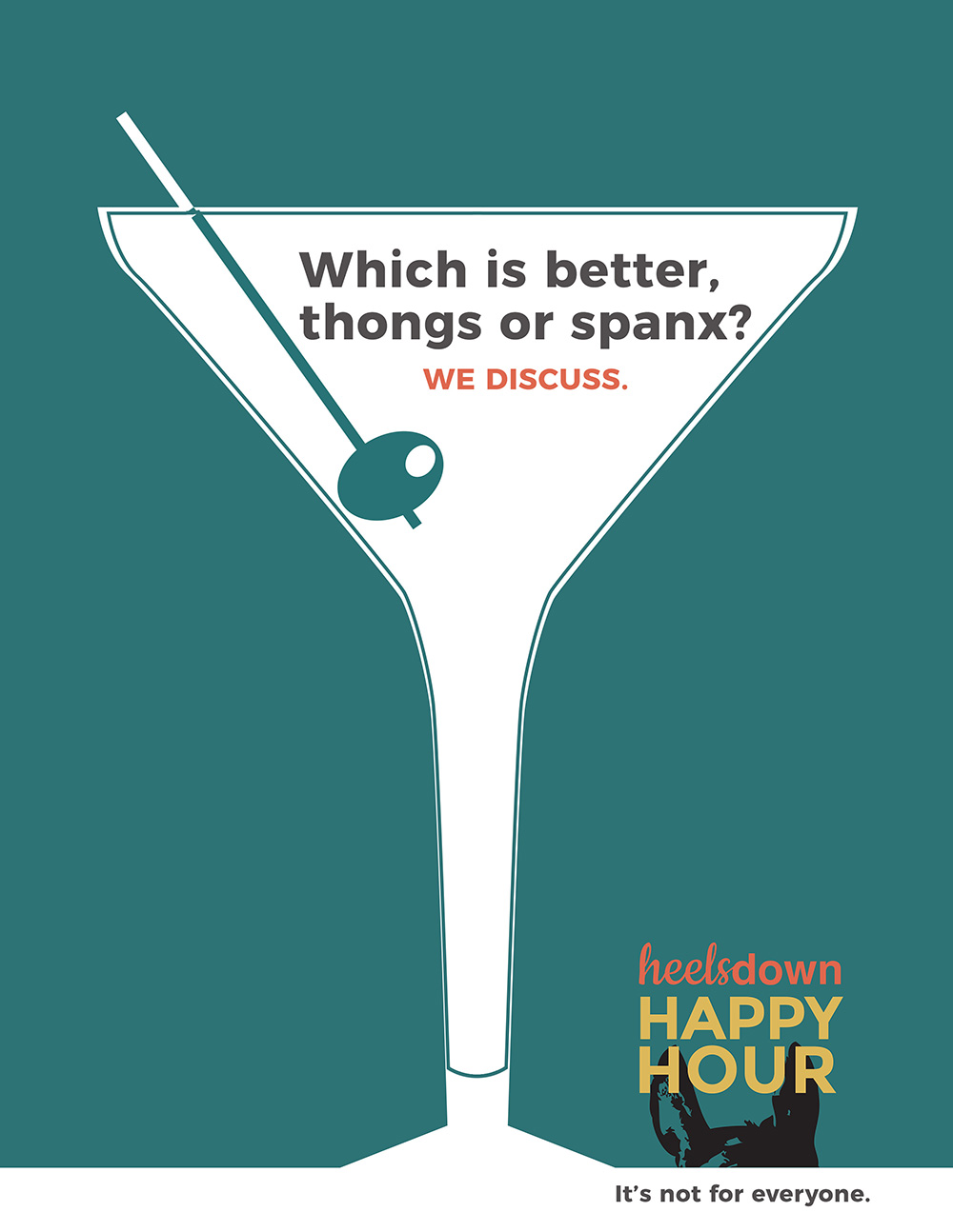 Creative: Heels Down Happy Hour Podcast Campaign